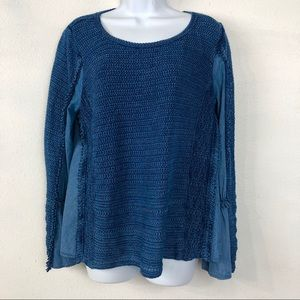 INC International Concept Bell Sleeve Chambray Top